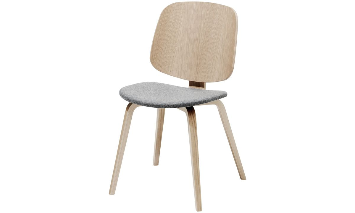Dining chairs - Aarhus chair - Gray - Fabric