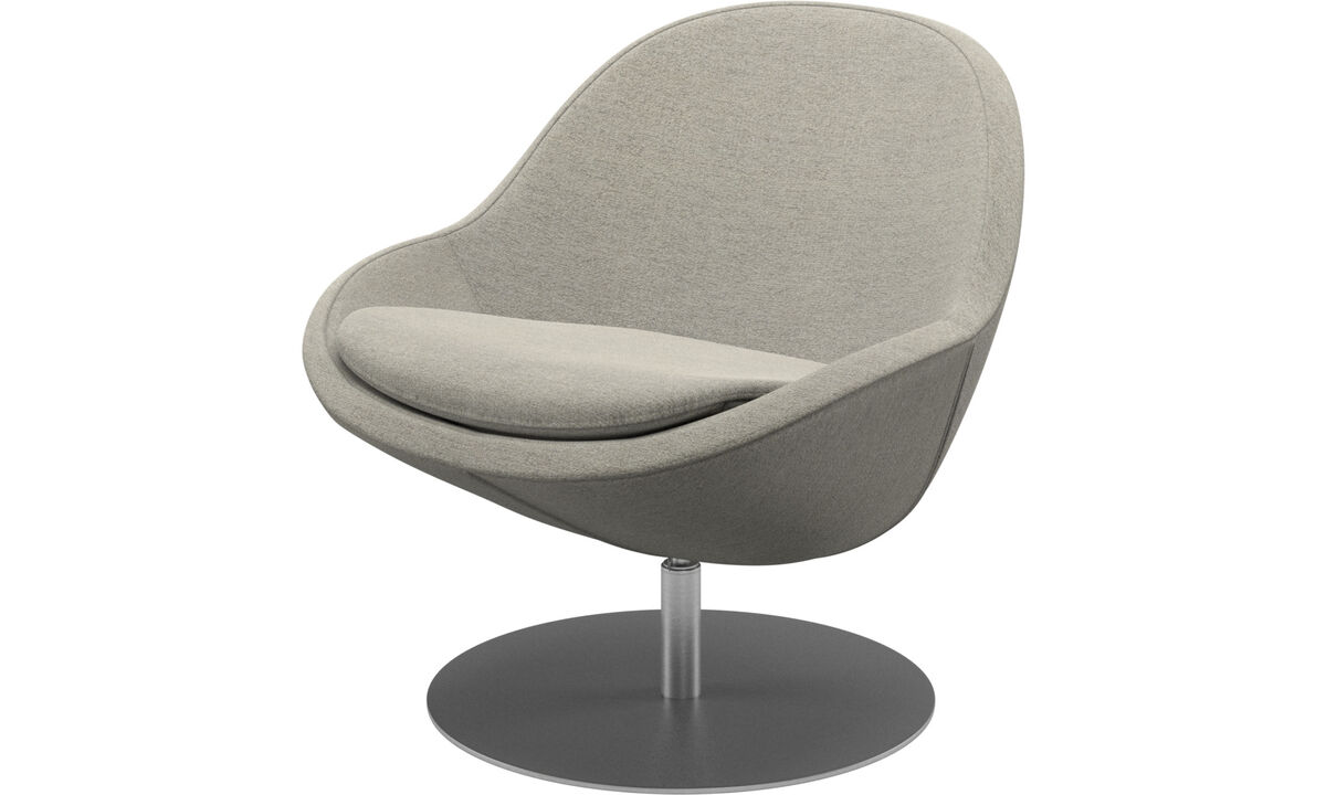 Armchairs - Veneto chair with swivel function - Beige - Fabric