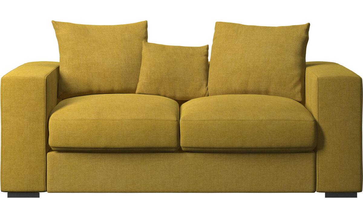 Sofás de 2 plazas - Sofá Cenova - En amarillo - Tela