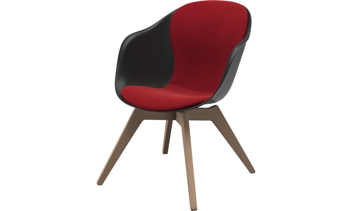 Armchairs - Adelaide lounge chair - Red - Fabric