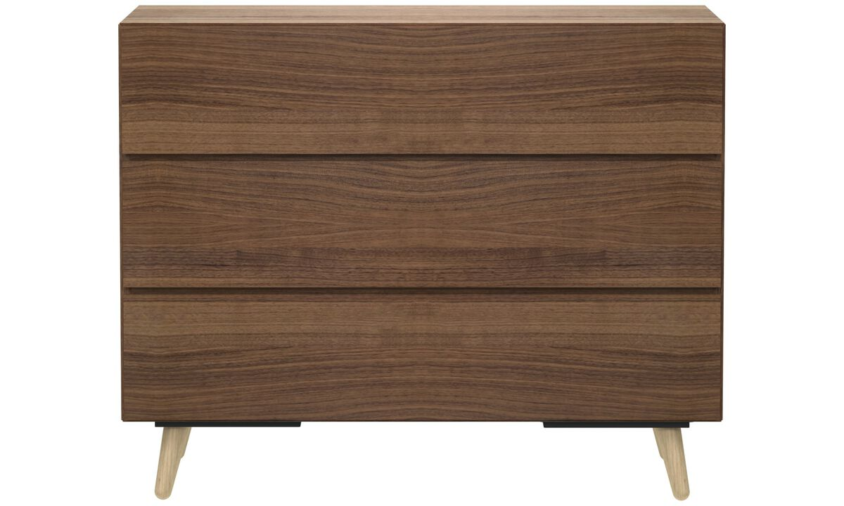 Chests of drawers - Lugano cassettone - Marrone - Noce