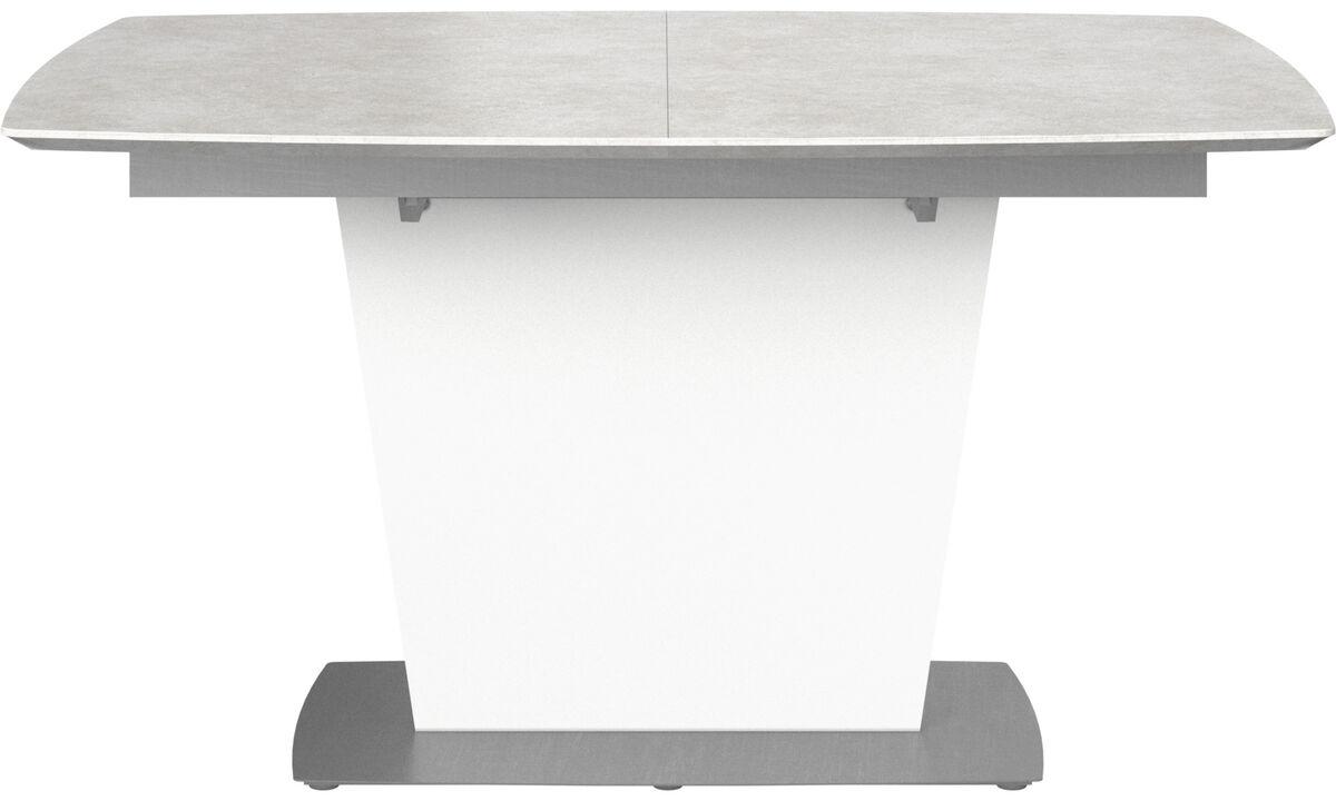 Eetkamertafel - Milano tafel met extra tafelblad - rechthoekig - Grijs - Keramiek