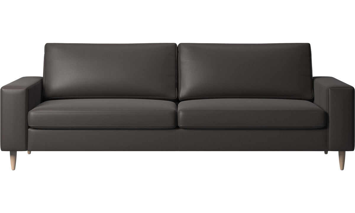 3 seater sofas - Indivi sofa - Brown - Leather