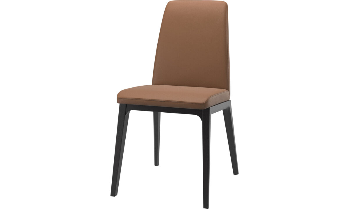 Dining chairs - Lausanne chair - Brown - Leather