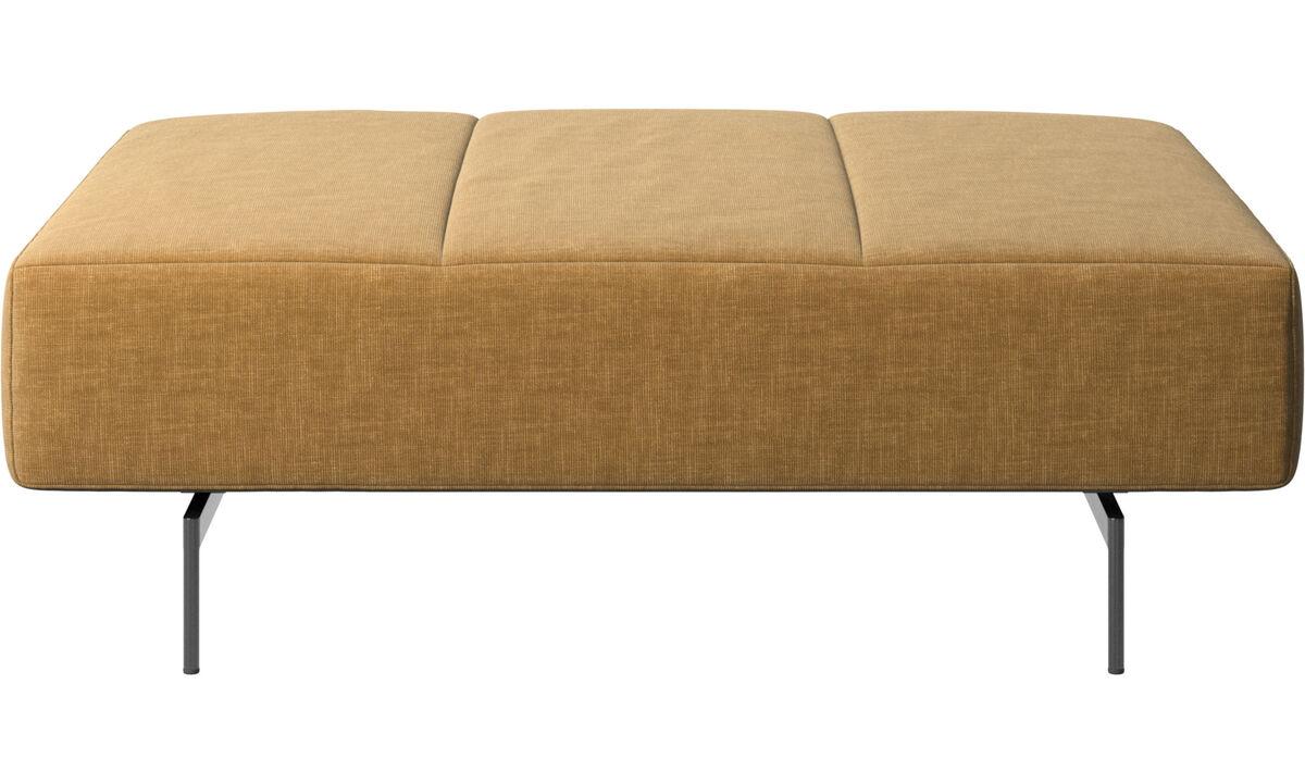 Footstools - Amsterdam footstool - Beige - Fabric