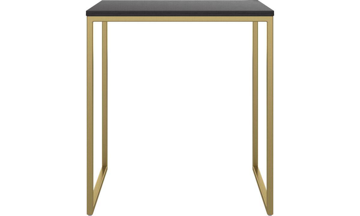 Tables basses - table basse Lugo - carré - Noir - Chêne