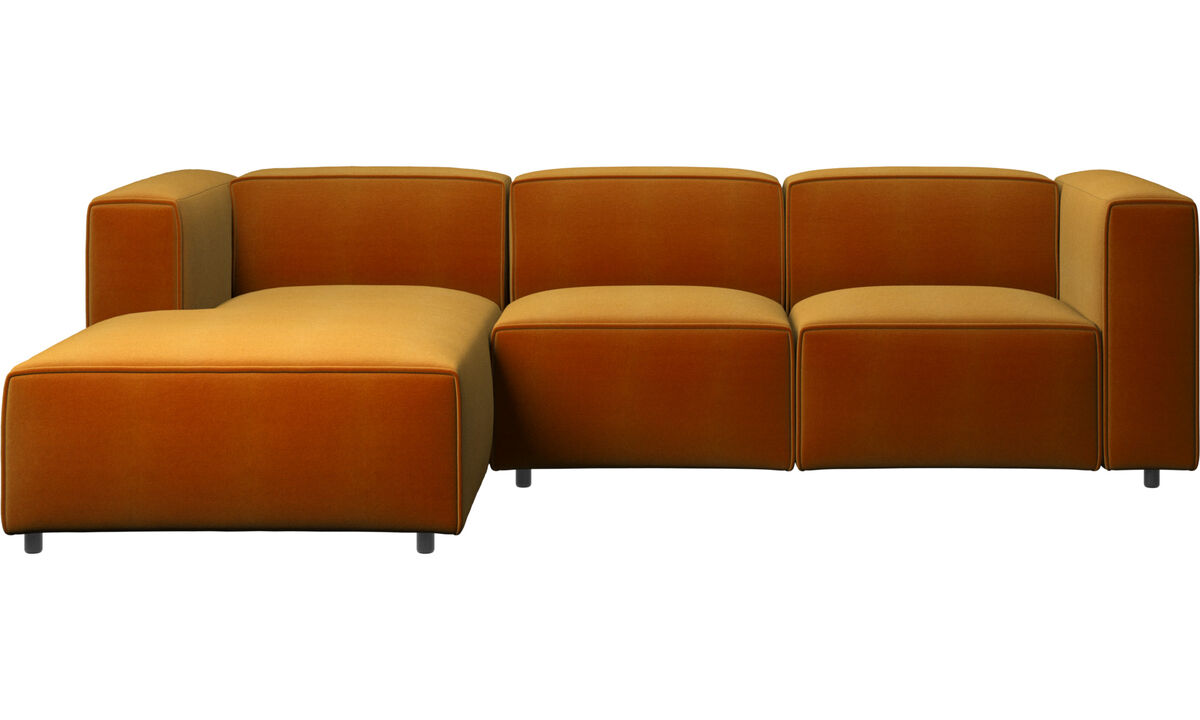 Recliner sofas - Carmo motion sofa with resting unit - Yellow - Fabric