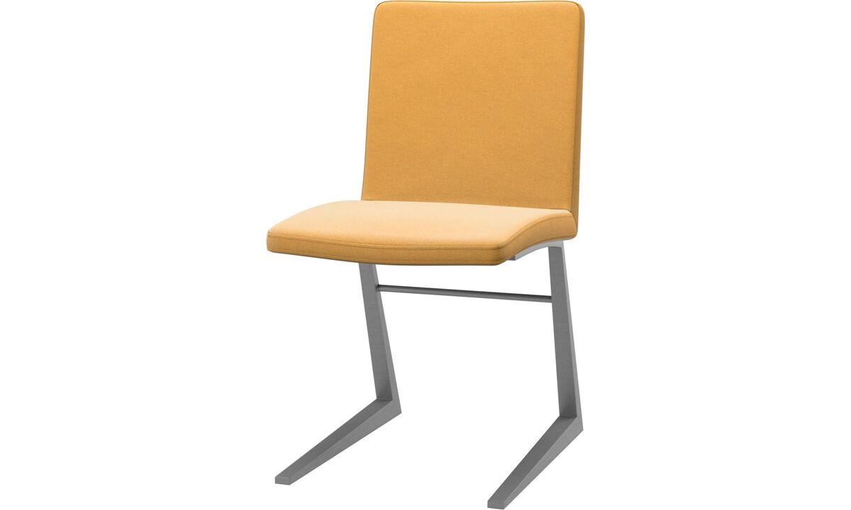 Chaises de salle à manger - Chaise Mariposa Deluxe - Jaune - Tissu