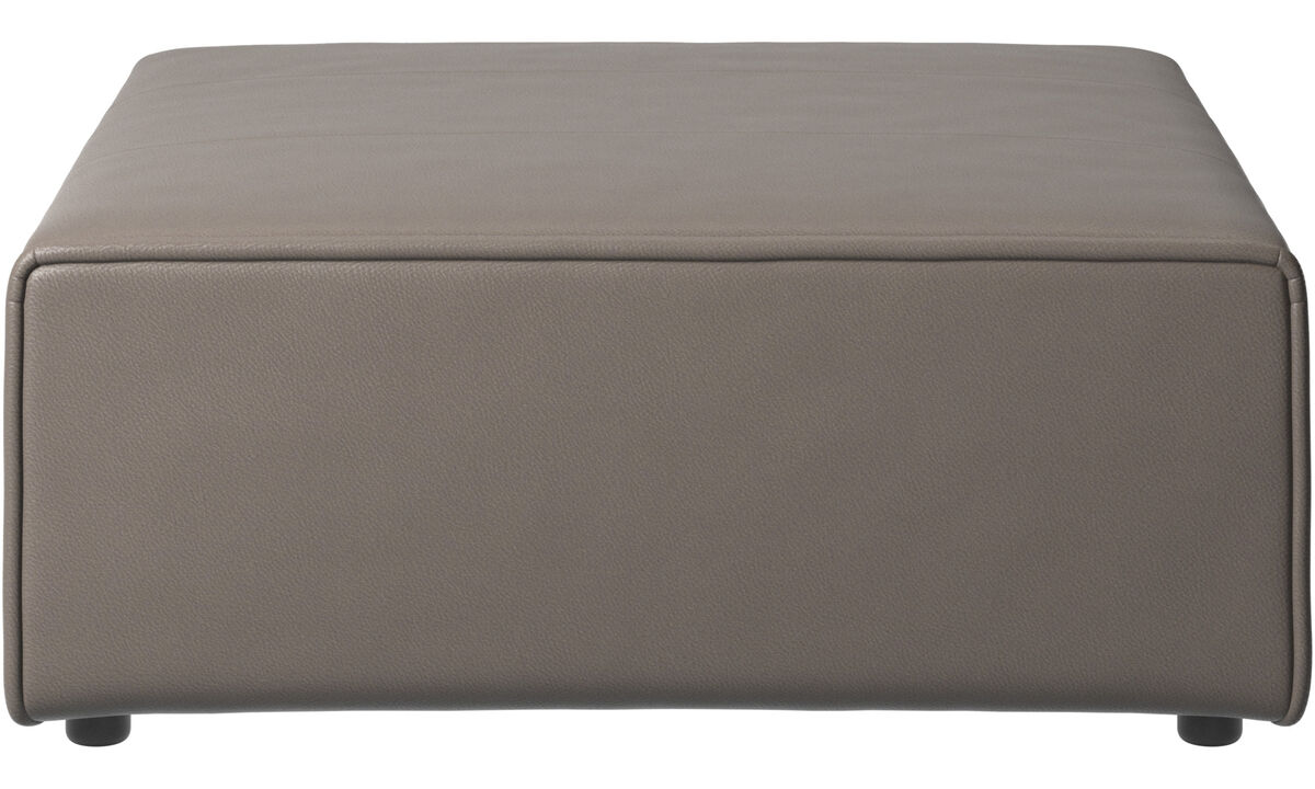 Modular sofas - Carmo footstool - Grey - Leather