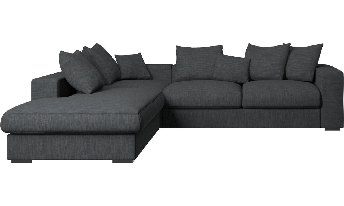 Sofas with open end - Cenova sofa with lounging unit - Fabric