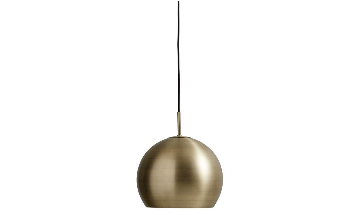 Lamps - Ball pendant - Yellow - Metal