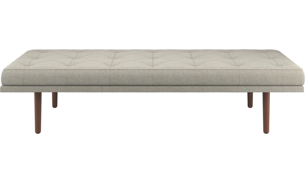 Divanes - sofá-cama fusion - En beige - Tela