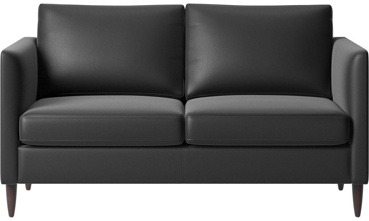 2 seater sofas - Indivi divano - Nero - Pelle