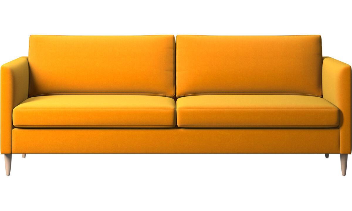 Drie zitsbanken - Indivi zitbank - Oranje - Stof