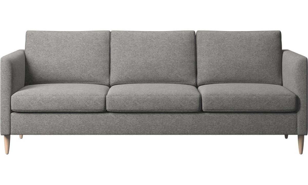 Sofás de 3 lugares - sofá Indivi - Cinza - Tecido