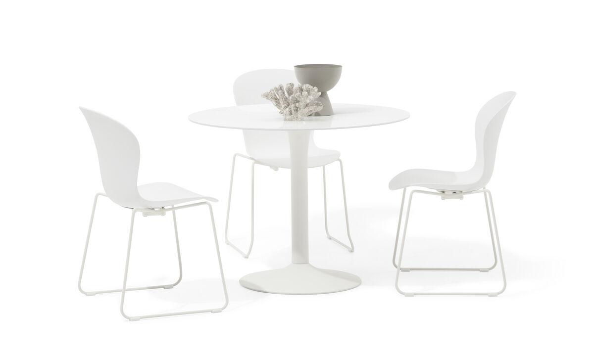 Dining tables - masa New York - rotund - Transparenta - Sticla