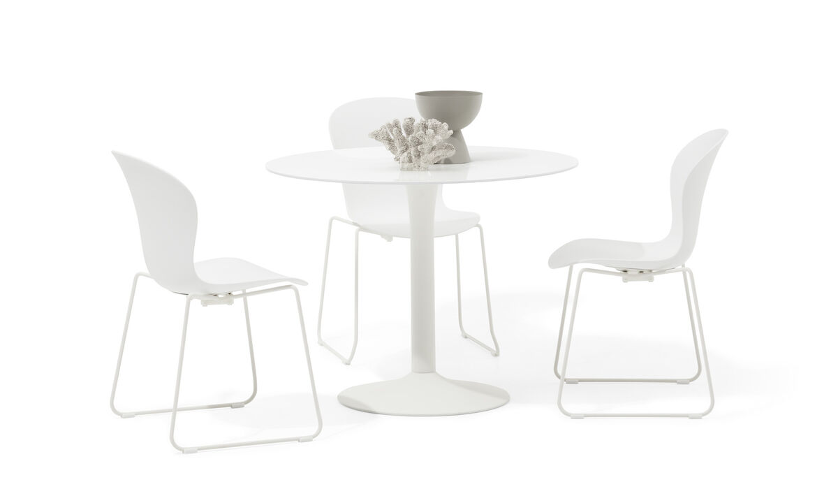 餐桌 - New York 桌子 - 圆形 - 透明玻璃 - 玻璃