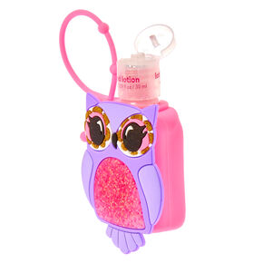 Purple Owl Pink Holder with Blue Raspberry Scented Hand Lotion,