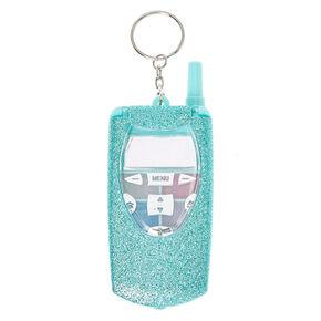 Blue Glitter Flip Phone Lip Gloss Palette,
