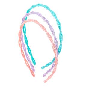Pastel Glitter Twist Head Band Set,