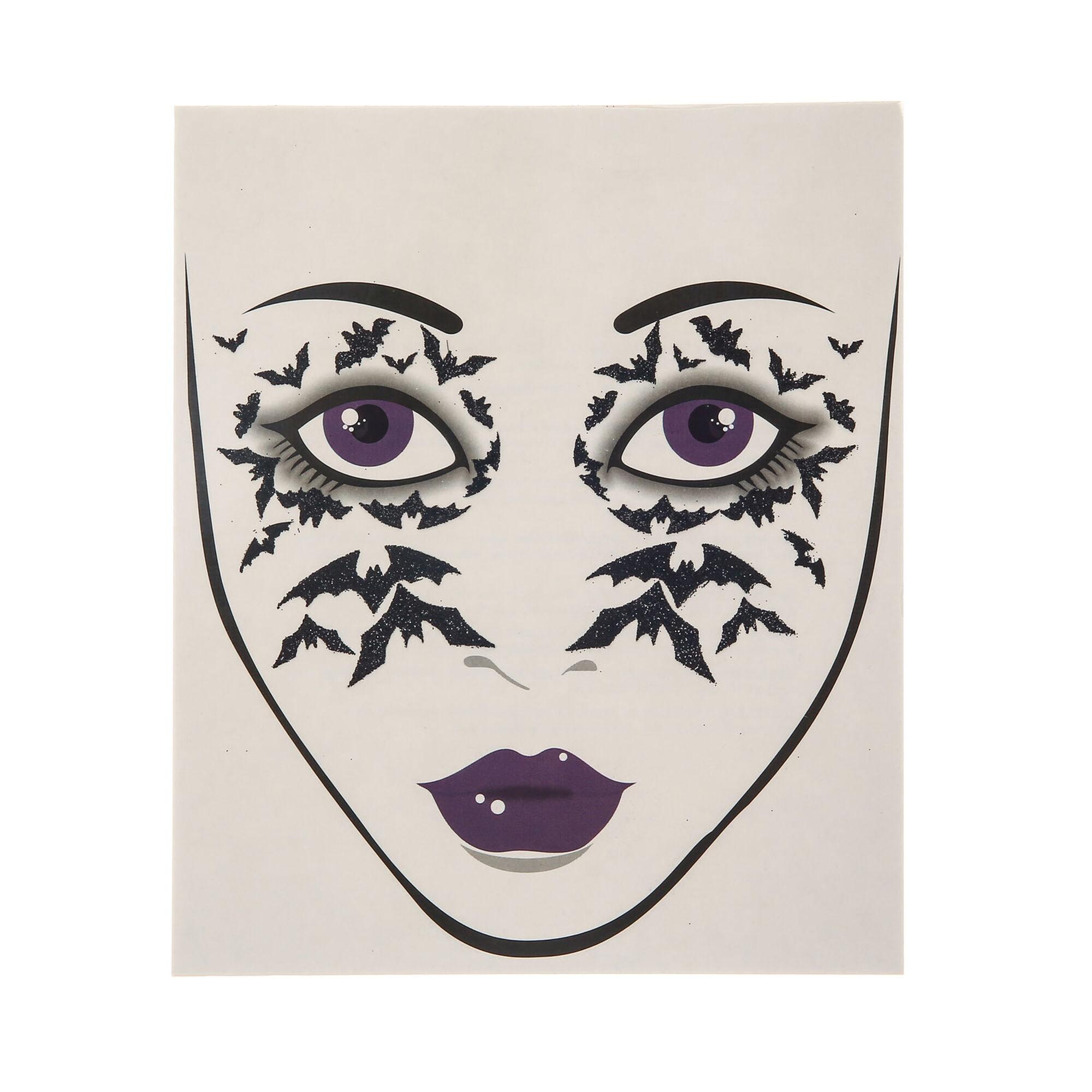 Tatouages de visage toile d 39 araign e claire 39 s fr - Maquillage toile d araignee visage ...