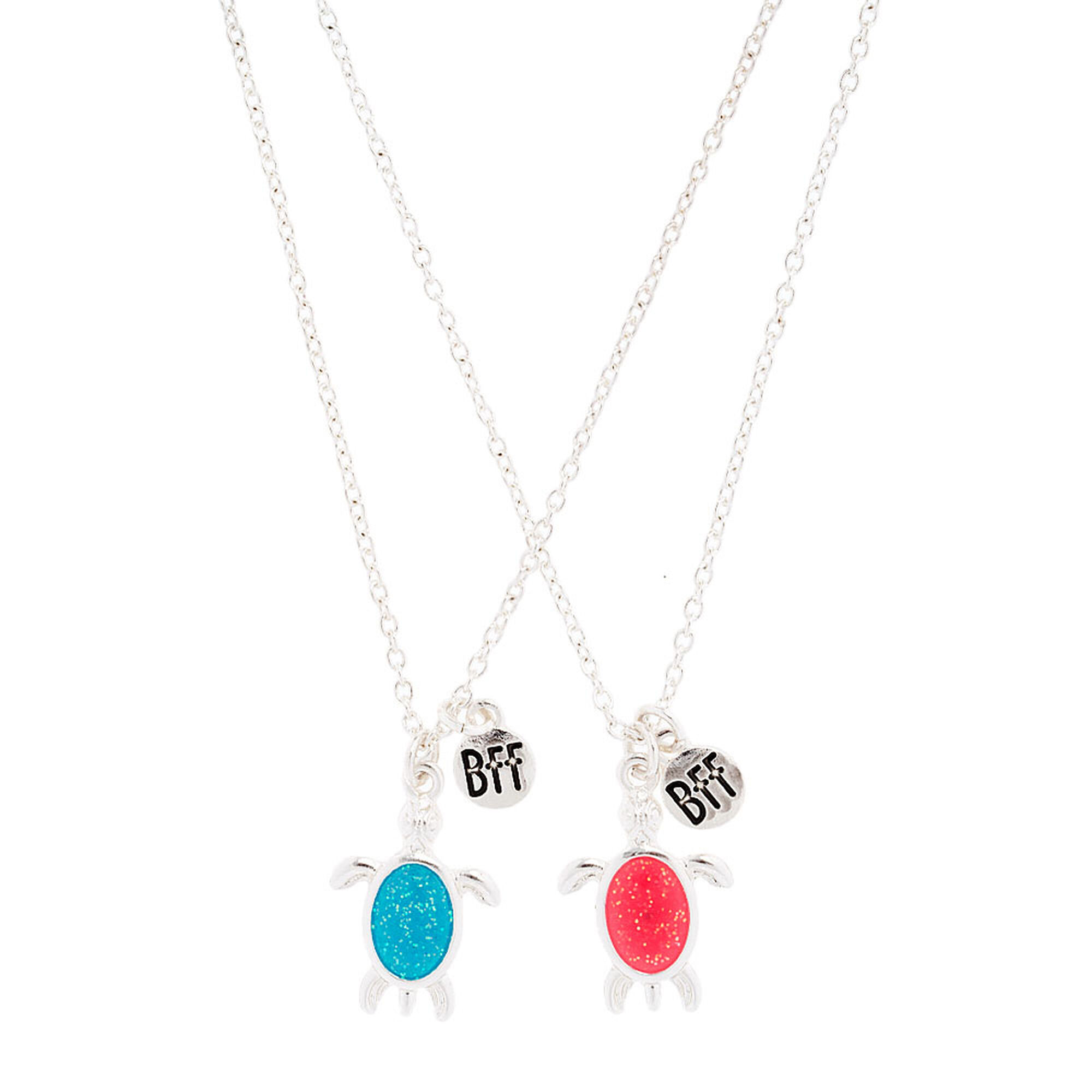 cute turtle best friend necklaces claires us