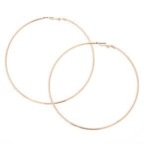 100MM Sensitive Solutions Silver-Tone Hoop Earrings,