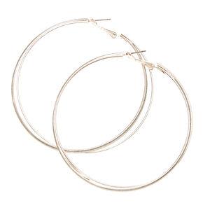 70MM Silver Glitter Criss-Cross Hoop Earrings,
