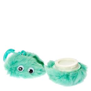 Mint Green Googly Eyed Pom Keyring Clip Flavored Lip Gloss,