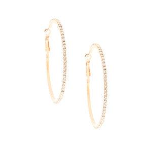 60MM Rose Gold Crystal Earrings,