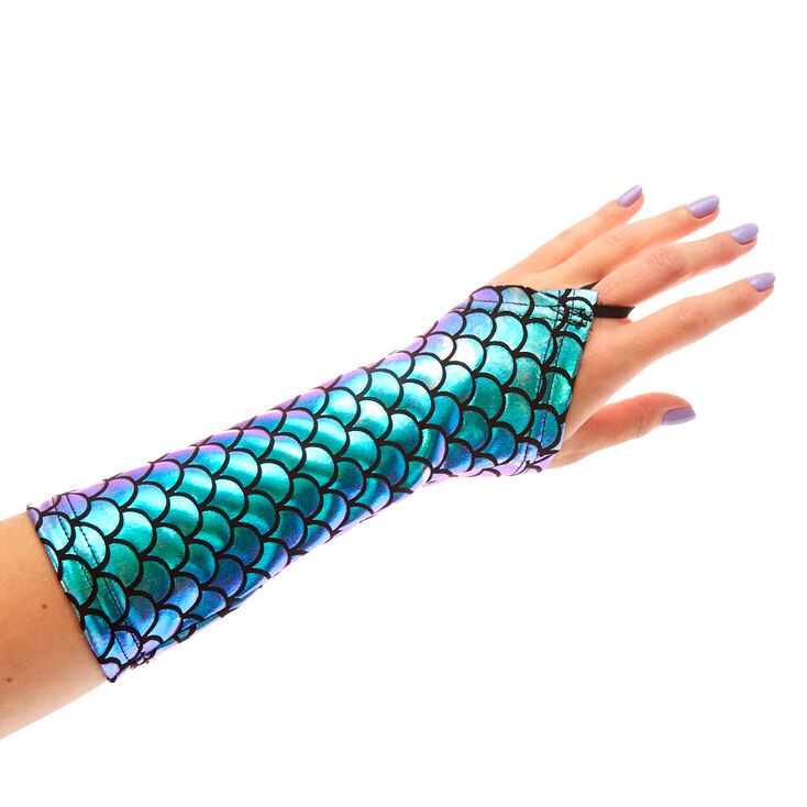Holographic Mermaid Fingerless Gloves at Icing in Victor, NY | Tuggl