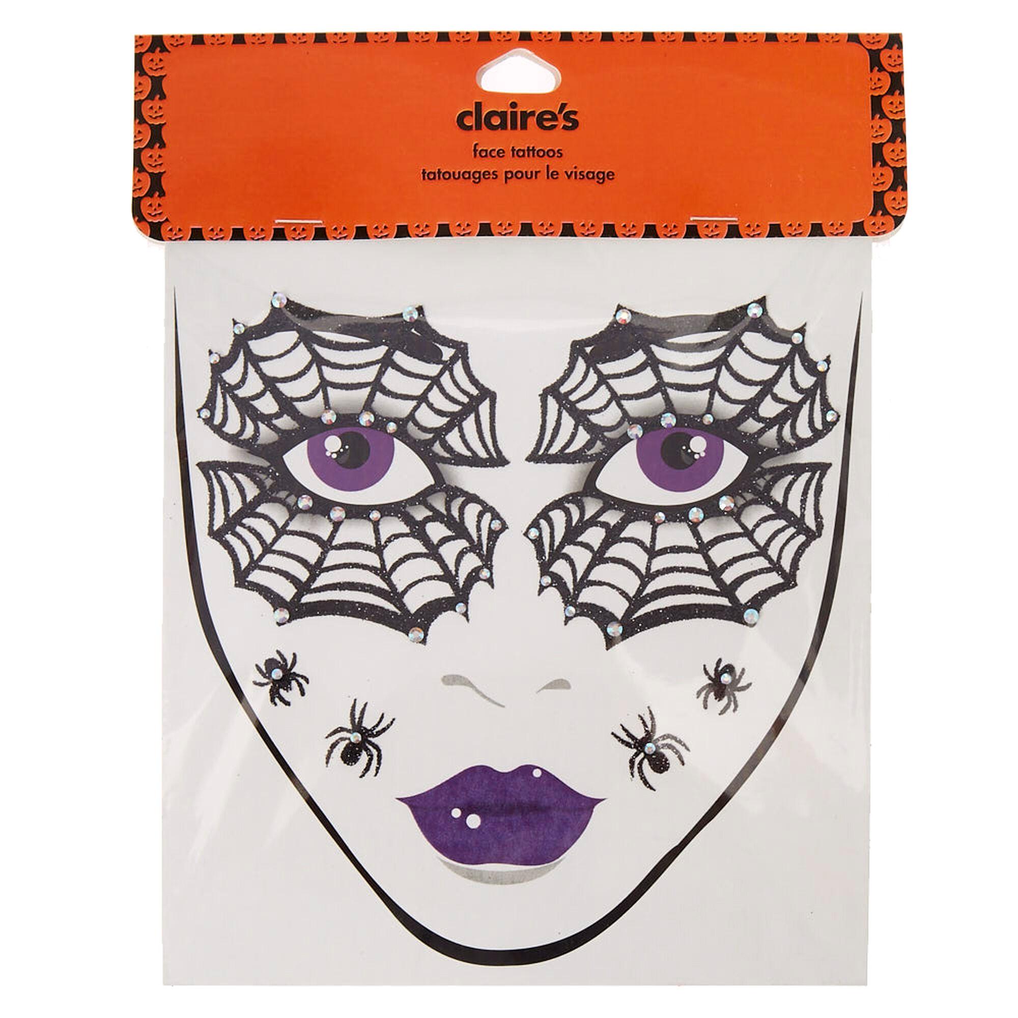 tatouages de visage toile d 39 araign e claire 39 s fr. Black Bedroom Furniture Sets. Home Design Ideas