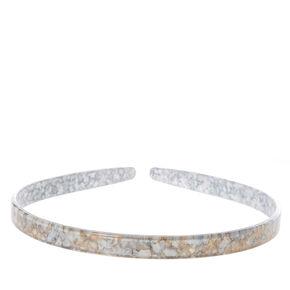 Gray Marbled Headband,