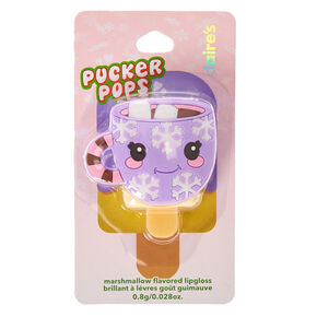 Pucker Pops Hot Cocoa Marshmallow Flavored Lipgloss,