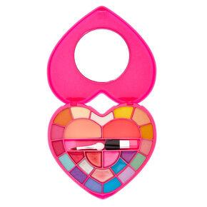 Bedazzled Rainbow Heart Makeup Set,