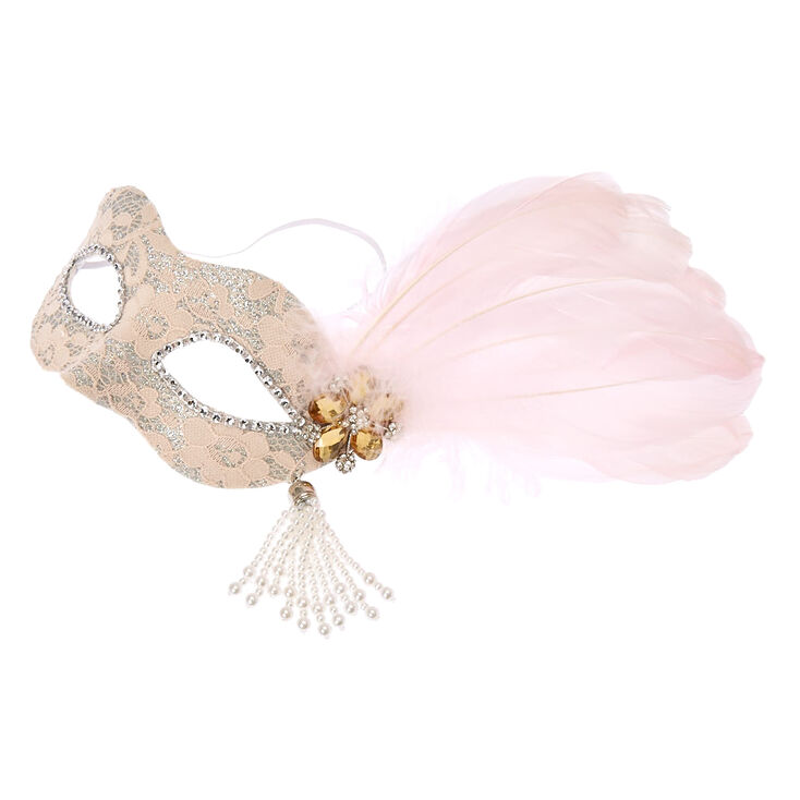 Blush Pink Masquerade Mask at Icing in Victor, NY | Tuggl