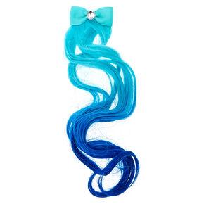 Kids Mint Blue Ombre Faux Hair Extension,